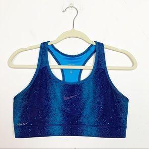 🍩Nike Pro Dri-Fit Compression Sports Bra Blue